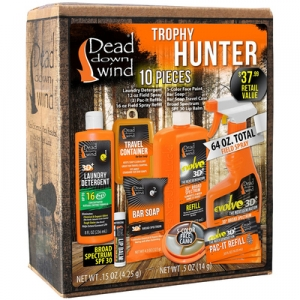 <p>To get that trophy buck you'll need some help with the Dead Down Wind <strong>Trophy Hunter 10 Piece Scent Elimination Kit</strong>. Includes everything you need - body and clothing - for a scent-free hunt. <strong>Features:</strong></p>